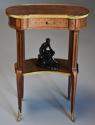 Late 19thc French parquetry Kingwood kidney shaped occasional table - picture 2