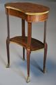 Late 19thc French parquetry Kingwood kidney shaped occasional table - picture 3
