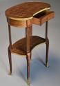 Late 19thc French parquetry Kingwood kidney shaped occasional table - picture 4