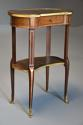 Late 19thc French parquetry Kingwood kidney shaped occasional table - picture 7