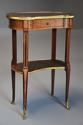 Late 19thc French parquetry Kingwood kidney shaped occasional table - picture 8