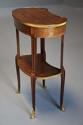 Late 19thc French parquetry Kingwood kidney shaped occasional table - picture 9