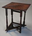 Rare & unusual late 17th century oak gateleg corner table - picture 10