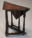 Rare & unusual late 17th century oak gateleg corner table - picture 11