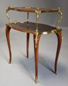 Fine quality French 19th century Kingwood two tier serpentine etagere - picture 3