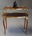 Fine quality French 19th century Kingwood two tier serpentine etagere - picture 5