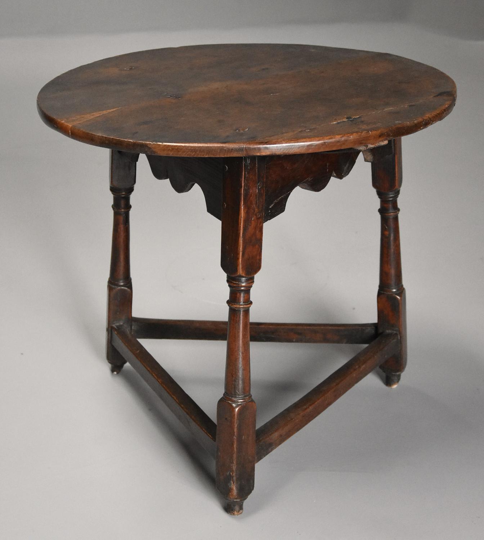 Early 18th century oak cricket table
