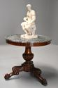 19th century French mahogany gueridon table with original marble top - picture 2
