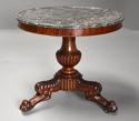 19th century French mahogany gueridon table with original marble top - picture 3