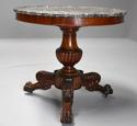 19th century French mahogany gueridon table with original marble top - picture 4