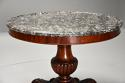 19th century French mahogany gueridon table with original marble top - picture 5