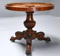 19th century French mahogany gueridon table with original marble top - picture 9