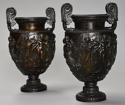 Pair of mid 19th century Grand Tour bronze 'Townley Vases' - picture 4