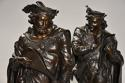 Superb pair of French 19thc bronze figures of minstrels or musicians - picture 3