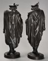 Superb pair of French 19thc bronze figures of minstrels or musicians - picture 9