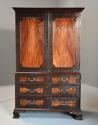 Superb quality mid 19thc mahogany press cupboard in the 18thc style - picture 2