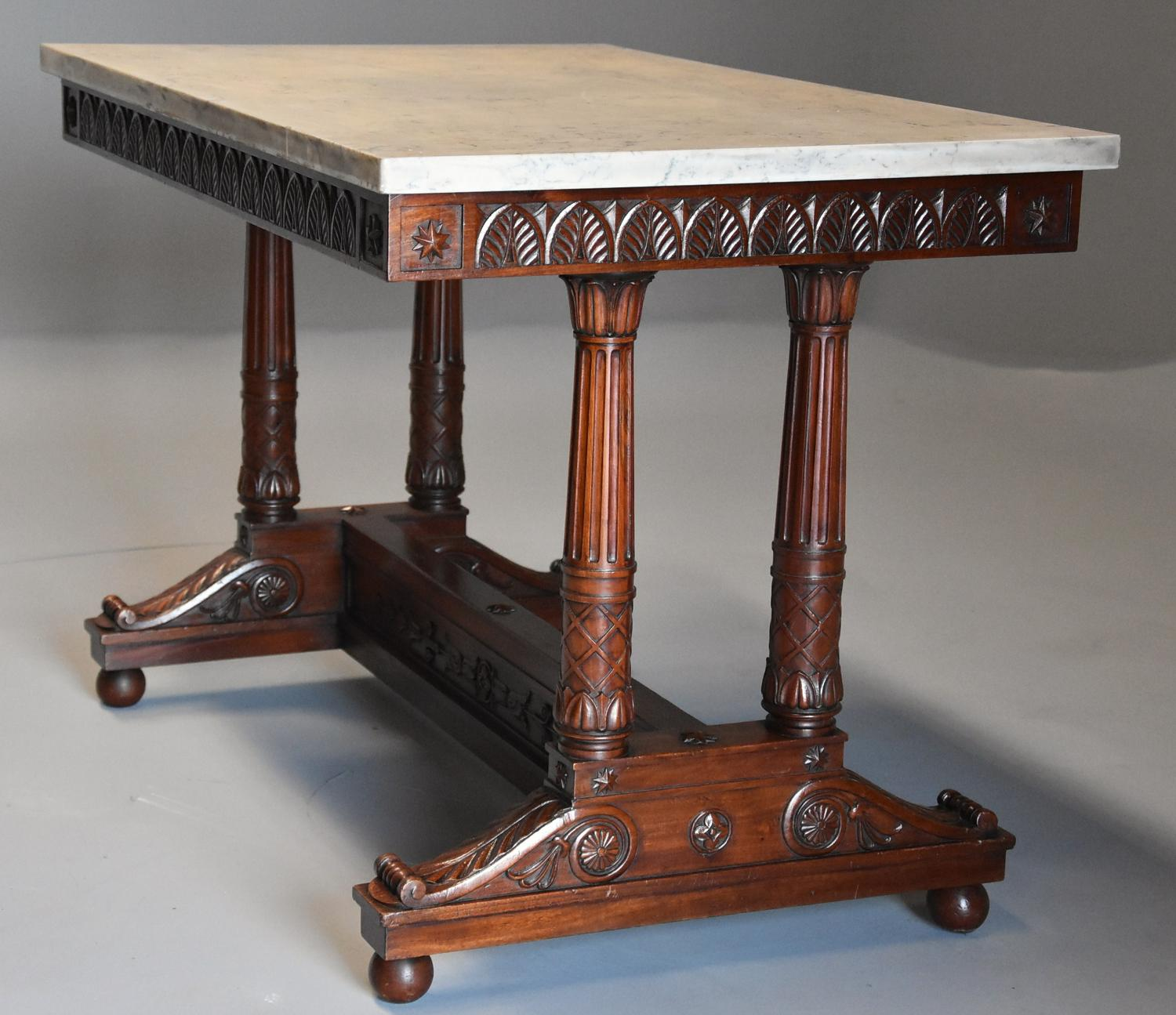 Rare fine quality 19thc French Empire centre table with marble top