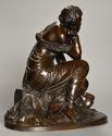 Mid 19th century French bronze 'Reflections' by Alexandre Schoenewerk - picture 2