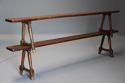 Pair of mid 19th century French fruitwood benches - picture 4