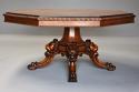 Superb mid 19thc Irish pollard oak octagonal tilt top centre table - picture 1