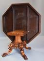 Superb mid 19thc Irish pollard oak octagonal tilt top centre table - picture 10