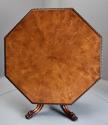 Superb mid 19thc Irish pollard oak octagonal tilt top centre table - picture 2