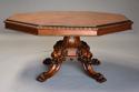 Superb mid 19thc Irish pollard oak octagonal tilt top centre table - picture 3