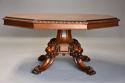 Superb mid 19thc Irish pollard oak octagonal tilt top centre table - picture 4