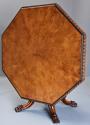 Superb mid 19thc Irish pollard oak octagonal tilt top centre table - picture 7