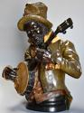 19th century life size terracotta 'Banjo Player' After Pietro Calvi - picture 1