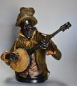 19th century life size terracotta 'Banjo Player' After Pietro Calvi - picture 3