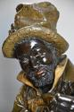 19th century life size terracotta 'Banjo Player' After Pietro Calvi - picture 4