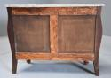 French walnut & Kingwood floral marquetry commode with marble top - picture 11