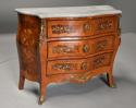 French walnut & Kingwood floral marquetry commode with marble top - picture 4