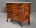 French walnut & Kingwood floral marquetry commode with marble top - picture 5
