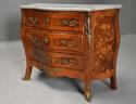 French walnut & Kingwood floral marquetry commode with marble top - picture 6
