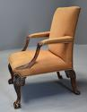 Early 20th century fine quality Georgian style mahogany armchair - picture 10