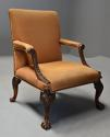 Early 20th century fine quality Georgian style mahogany armchair - picture 3