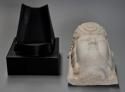 Late 19thc highly decorative carved marble head of Guan Yin - picture 9