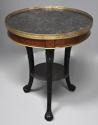Late 18thc French Empire mahogany and marble gueridon table - picture 4