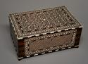 Superb quality 19thc Anglo Indian shisham wood ivory inlaid box - picture 1