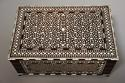 Superb quality 19thc Anglo Indian shisham wood ivory inlaid box - picture 2