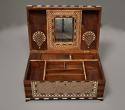 Superb quality 19thc Anglo Indian shisham wood ivory inlaid box - picture 8