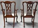 Pair of fine quality 19thc mahogany Chippendale style armchairs - picture 12