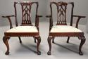 Pair of fine quality 19thc mahogany Chippendale style armchairs - picture 2