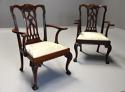 Pair of fine quality 19thc mahogany Chippendale style armchairs - picture 3