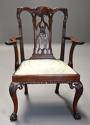 Pair of fine quality 19thc mahogany Chippendale style armchairs - picture 5