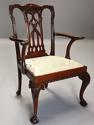 Pair of fine quality 19thc mahogany Chippendale style armchairs - picture 8