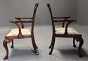 Pair of fine quality 19thc mahogany Chippendale style armchairs - picture 9