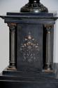 Pair of 19thc Grand Tour style bronze 'Townley Vases' on slate plinths - picture 10